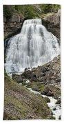 Rustic Falls Yellowstone Beach Towel