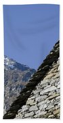 Rustic House And Mountain Beach Towel