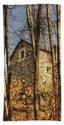 Rustic Stone House Beach Towel