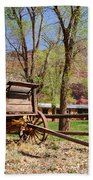 Rustic Wagon At Historic Lonely Dell Ranch - Arizona Beach Towel