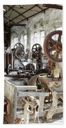 Rusty Machinery Beach Towel by Carlos Caetano