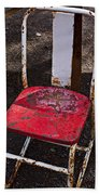 Rusty Metal Chair Beach Towel