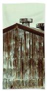 Rusty Tin Factory Building Beach Towel