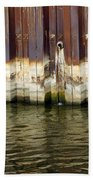 Rusty Wall By The River Beach Towel