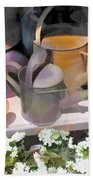 Rusty Watering Cans Beach Towel
