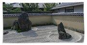 Ryogen-in Raked Gravel Garden - Kyoto Japan Beach Sheet