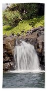 Sacred Pool Waterfall Beach Towel