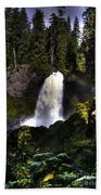 Sahalie Falls Beach Towel