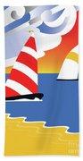 Sailing Before The Wind Beach Towel
