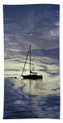 Sailing Boat Beach Towel by Joana Kruse