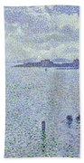Sailing Boats In An Estuary Beach Towel