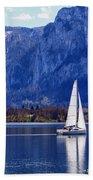 Sailing On Mondsee Lake Beach Towel by Lauri Novak