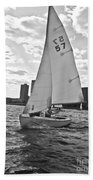 Sailing On The Charles Beach Towel