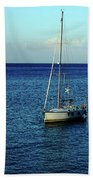 Sailing The Blue Waters Of Greece Beach Towel