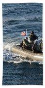 Sailors Participate In A Visit, Board Beach Towel