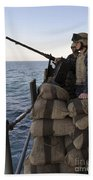 Sailors Stand Small Caliber Attack Team Beach Towel