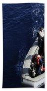 Sailors Stand Watch On A Rigid-hull Beach Towel