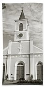 Saint Martin De Tours - Sepia Beach Towel