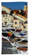 Saint Tropez Harbor Beach Towel