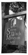 Salem Witch Museum Beach Sheet
