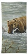 Salmon For Lunch Beach Towel