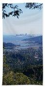 San Francisco As Seen Through The Redwoods On Mt Tamalpais Beach Towel