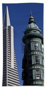 San Francisco Buildings Beach Towel
