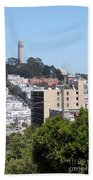 San Francisco Coit Tower Beach Towel