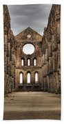 San Galgano  - A Ruin Of An Old Monastery With No Roof Beach Towel