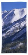 San Juan Mountains Covered In Snow Beach Towel