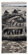 Sand Dragon Sculputure Beach Towel