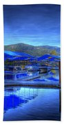 Sandpoint Marina And Power House 1 Beach Towel