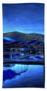 Sandpoint Marina And Power House 3 Beach Towel