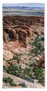 Sandstone Fins Of Arches National Park Beach Towel
