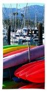 Santa Barbara Harbor Beach Towel