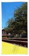 Santa Paula Train Station Beach Towel
