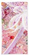 Santa's Window Beach Towel by Rachel Christine Nowicki