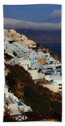 Santorini Cliff View Beach Towel