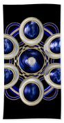 Sapphire And Gold Brooch Beach Towel