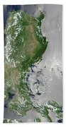 Satellite Image Of The Northern Beach Towel