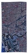 Satellite View Of Buffalo, New York Beach Towel