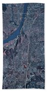 Satellite View Of Little Rock, Arkansas Beach Towel