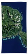 Satellite View Of Tahiti Beach Towel