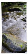 Satus Creek In Autumn Beach Towel