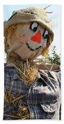 Scarecrow Farmer Beach Towel