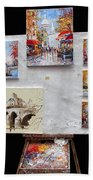 Scenes Of Paris For Sale Beach Towel