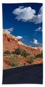 Scenic Drive Through Capitol Reef National Park Beach Towel
