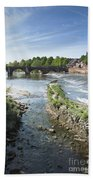 Scenic Landscape With Old Dee Bridge Beach Towel