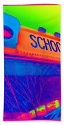 School Bus Beach Towel