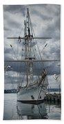 Schooner In Halifax Harbor Beach Towel
